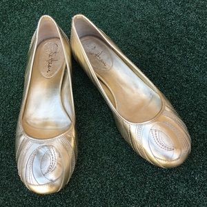 Cole Haan Nike Air Ballet Flats Gold 7.5